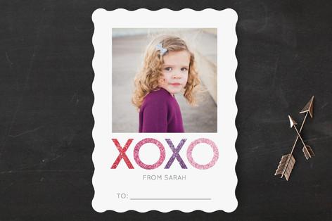 Sparkling XOXO Classroom Valentine's Cards