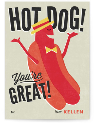 Hot Dog! Classroom Valentine's Day Cards