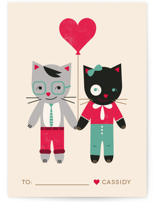 Be My Smitten Kitten Classroom Valentine's Day Cards