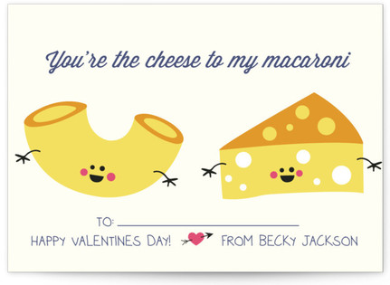 Mac and Cheese Classroom Valentine's Day Cards