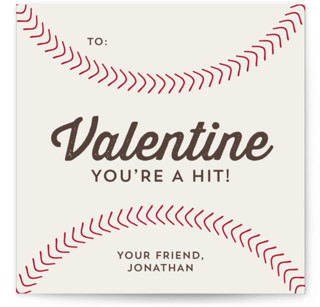 You're a Hit Classroom Valentine's Day Cards