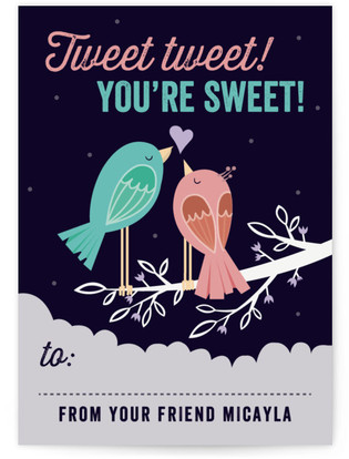Tweet Tweet Birds Classroom Valentine's Day Cards