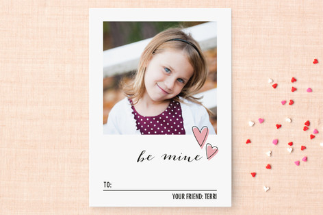Photo & Floating Hearts Classroom Valentine's Cards