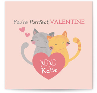 Purrfect Kitties Classroom Valentine's Day Cards