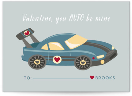Auto Classroom Valentine's Day Cards