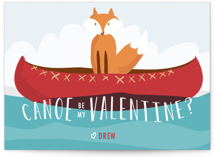 Canoe Be My Valentine? Classroom Valentine's Day Cards
