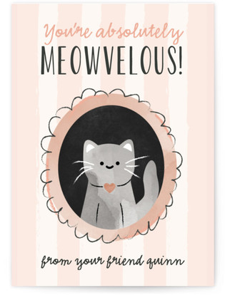 Meow-Velous Classroom Valentine's Day Cards