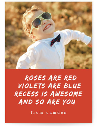 Recess Is Awesome Classroom Valentine's Day Cards