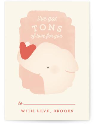 Valentine Zoo Elephant Classroom Valentine's Day Cards