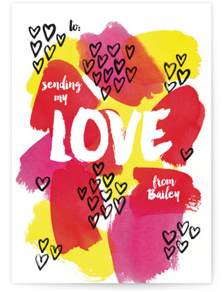 Watercolor is Love Classroom Valentine's Day Cards