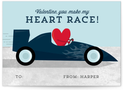 You Make My Heart Race Classroom Valentine's Day Cards