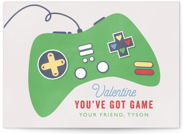 Got Game Classroom Valentine's Day Cards