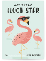 Zen Flamingo Classroom Valentine's Day Cards