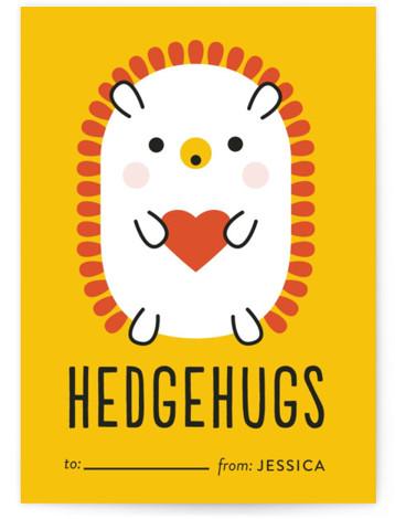 Rainbow Hedgehog Classroom Valentine's Day Cards