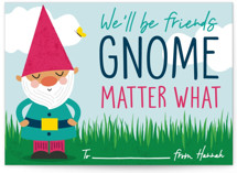 Gnome Matter What Classroom Valentine's Day Cards