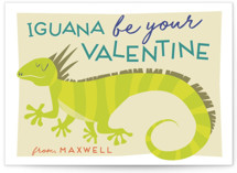 Iguana Be Yours Classroom Valentine's Day Cards