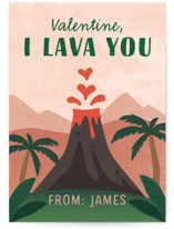 lava you Classroom Valentine's Day Cards