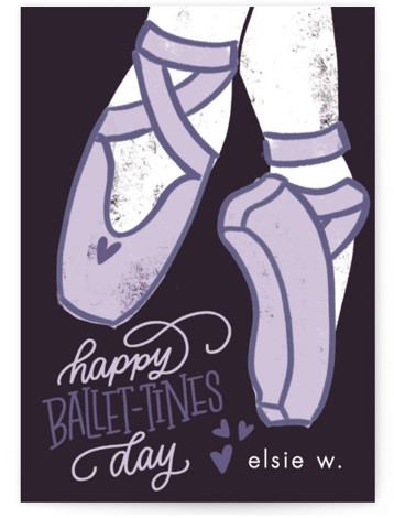 Ballet-tines Classroom Valentine's Day Cards