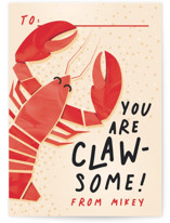 Claw-Some Classroom Valentine's Day Cards