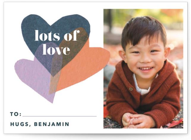 tissue heart burst Classroom Valentine's Day Cards