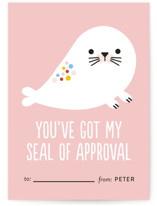 Rainbow Seal Classroom Valentine's Day Cards