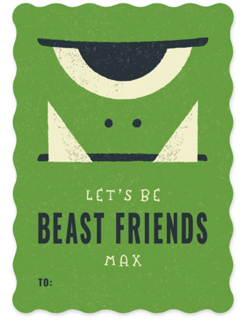 Beast Friends Classroom Valentine's Day Cards