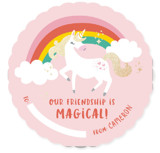 Magical Unicorn Foil-Pressed Classroom Valentine's Day Cards
