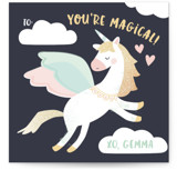 Magical Pegasus Foil Valentine Cards