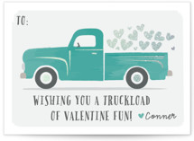 Truckload of Fun Foil-Pressed Classroom Valentine's Day Cards