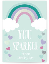 Sparkle Hearts Foil-Pressed Classroom Valentine's Day Cards