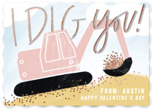 I Dig You Foil-Pressed Classroom Valentine's Day Cards