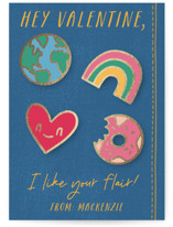 Flair Foil-Pressed Classroom Valentine's Day Cards