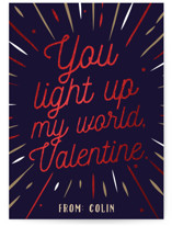 Light Up My World Foil-Pressed Classroom Valentine's Day Cards