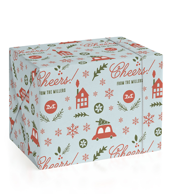 Holiday Fun Personalized Wrapping Paper