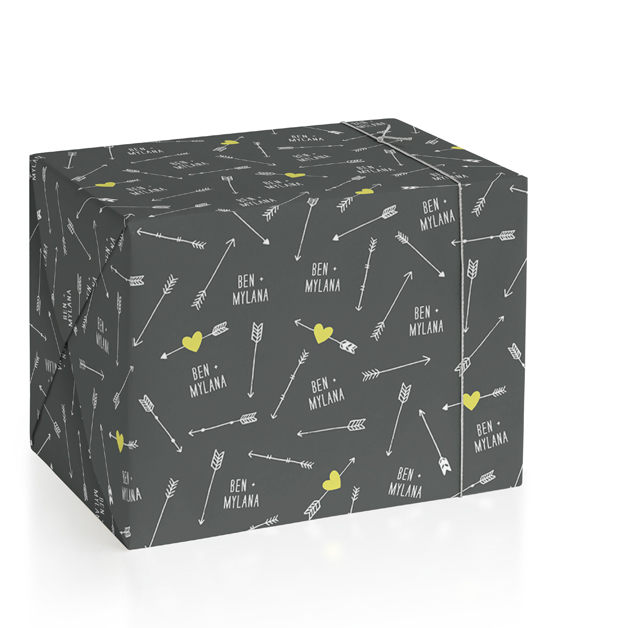 Lovestruck Personalized Wrapping Paper