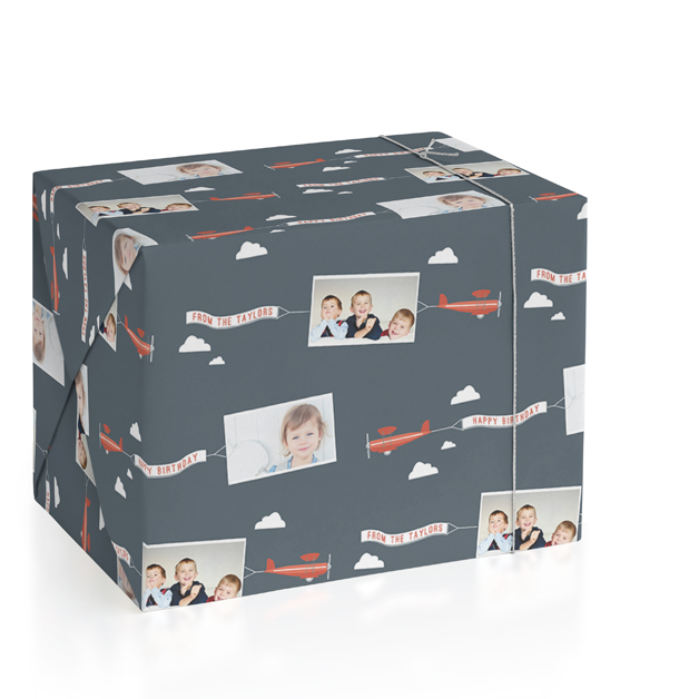 In Flight Personalized Wrapping Paper