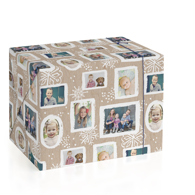 Painted Frames Personalized Wrapping Paper