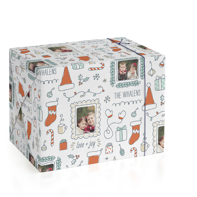 Holidoodle Personalized Wrapping Paper