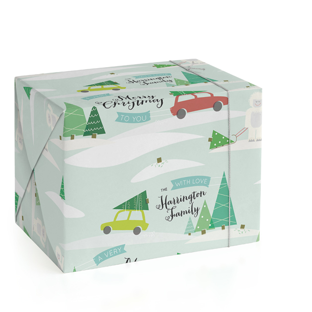 Hunting For The Perfect Tree Personalized Wrapping Paper