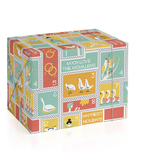 12 Days Personalized Wrapping Paper