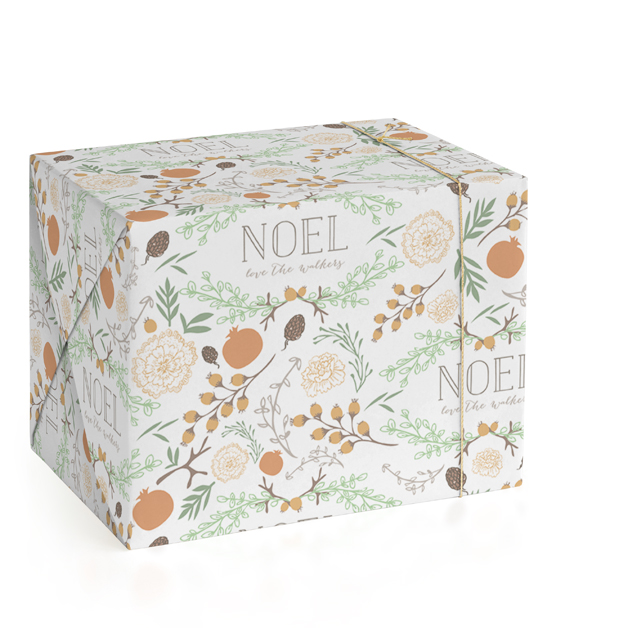 Rustic Garden Noel Personalized Wrapping Paper