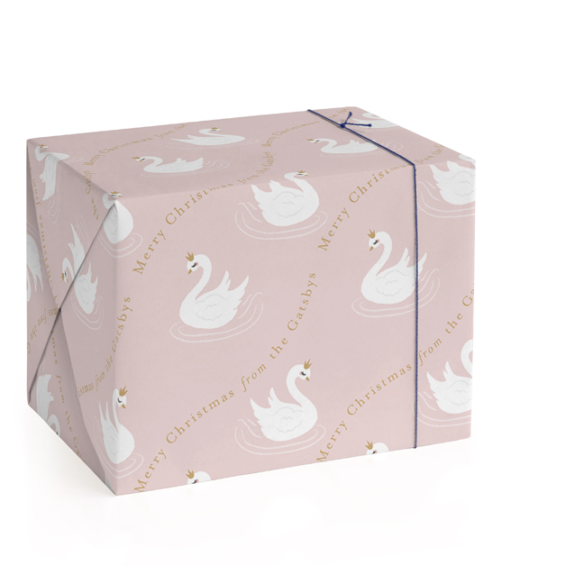 Seven Swans Swimmin Personalized Wrapping Paper