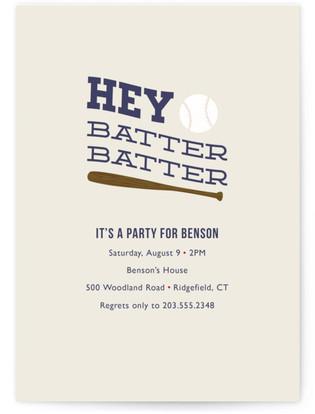 Hey Batter, Batter! Children's Birthday Party Online Invitations