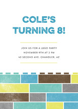Stacked Blocks Children's Birthday Party Online Invitations