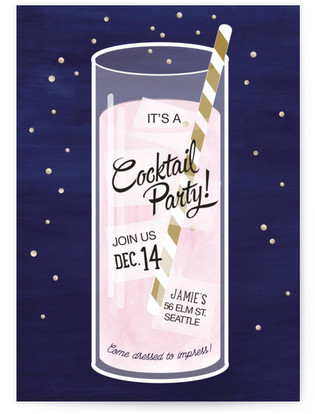 Tiny Bubbles Cocktail Party Online Invitations