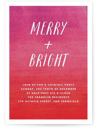 Merry and Bright Cocktail Party Online Invitations