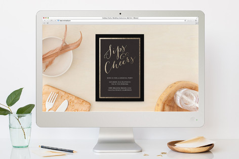 Simple Shine Cocktail Party Online Invitations