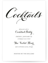 Modern Mint Cocktail Party Online Invitations