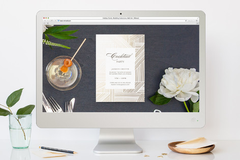 Elegant Fete Cocktail Party Online Invitations