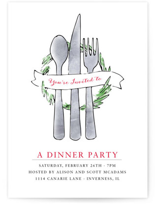 Be Our Guest Dinner Party Online Invitations